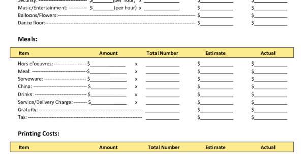 Budget Spreadsheet Examples Regarding Budget Worksheet Examples And Family Reunion Planners Reunion Bud