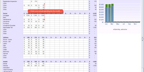 Budget Tracking Spreadsheet In Budget Planner Tracking Spreadsheet With Tracking Spending