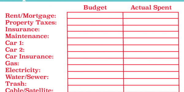 Budget Your Money Spreadsheet With Example Of Budget Expenses Spreadsheet Take Control Your Personal