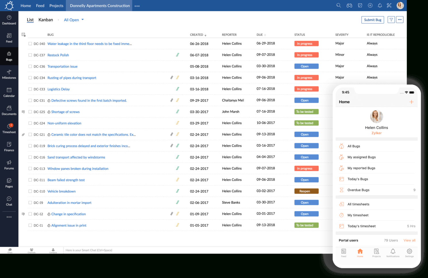 Bug Tracking Spreadsheet Pertaining To Bug Tracking Software  Simple Issue Tracker Tool – Zoho Bugtracker