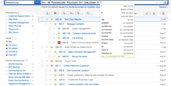 Bug Tracking Spreadsheet Throughout Issue Tracking Features  Youtrack In Project Management Bug Tracker