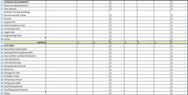 Building Budget Spreadsheet Within House Building Budget Spreadsheet Onlyagame