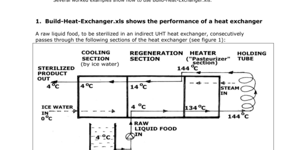 Building Heat Loss Calculation Spreadsheet Inside Pdf Buildheatexchanger: Help File With Explanations, Worked