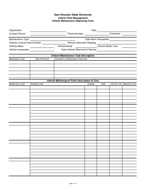 Building Maintenance Costs Spreadsheet Regarding Maintenance Tracking Spreadsheet Invoice Template Home Fleet