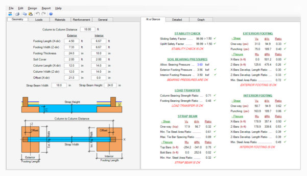 Building Structural Design Spreadsheets Free Download With Regard To Spread, Combined, Strap Footing Design Software  Asdip Foundation