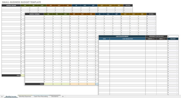 Business Budget Spreadsheet Excel With Regard To All The Best Business Budget Templates  Smartsheet