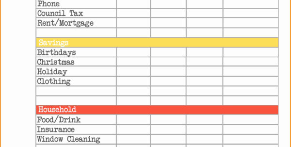 Business Expenses Spreadsheet Template Uk For Business Expenses Spreadsheet Lovely Sample Household Expenses