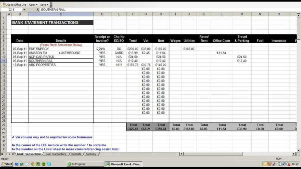 Business Finance Spreadsheet Within Small Business Income And Expenses Spreadsheet Sample Worksheets For