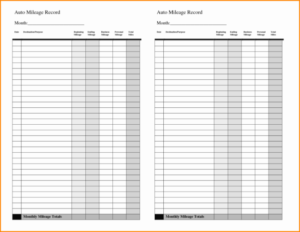 Business Mileage Spreadsheet Throughout Gas Mileage Spreadsheet Of Business Mileage Claim Form Template And