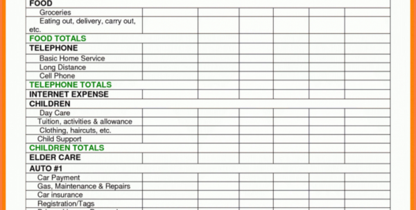 Business Spreadsheet For Taxes Pertaining To Daycare Expense Spreadsheet Idea Of Family Day Care Tax Spreadsheet