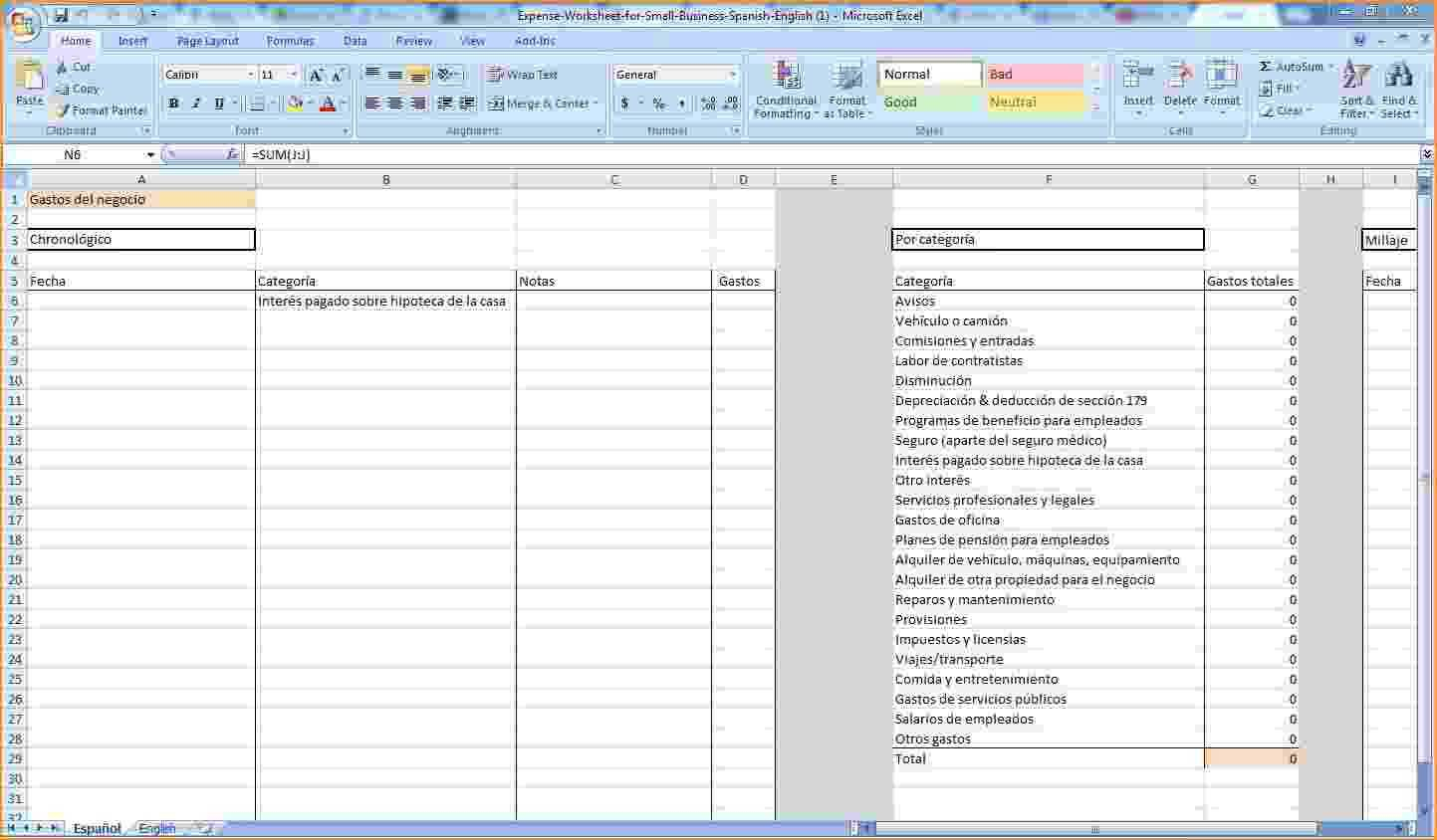 Business Spreadsheet Free Throughout Expense Tracking Spreadsheet For Small Business And Expense Tracking