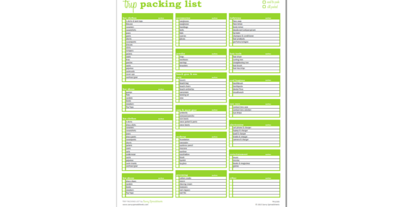 Business Spreadsheets Excel Templates Pack For Trip Packing List  Excel Template  Savvy Spreadsheets