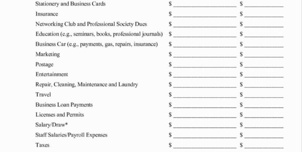 Business Startup Spreadsheet Regarding Business Startup Expenses Spreadsheet Awesome Startup Business