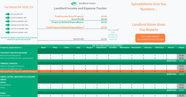 Buy To Let Accounting Spreadsheet For Free Rental Income And Expense Tracking Spreadsheet Download Page