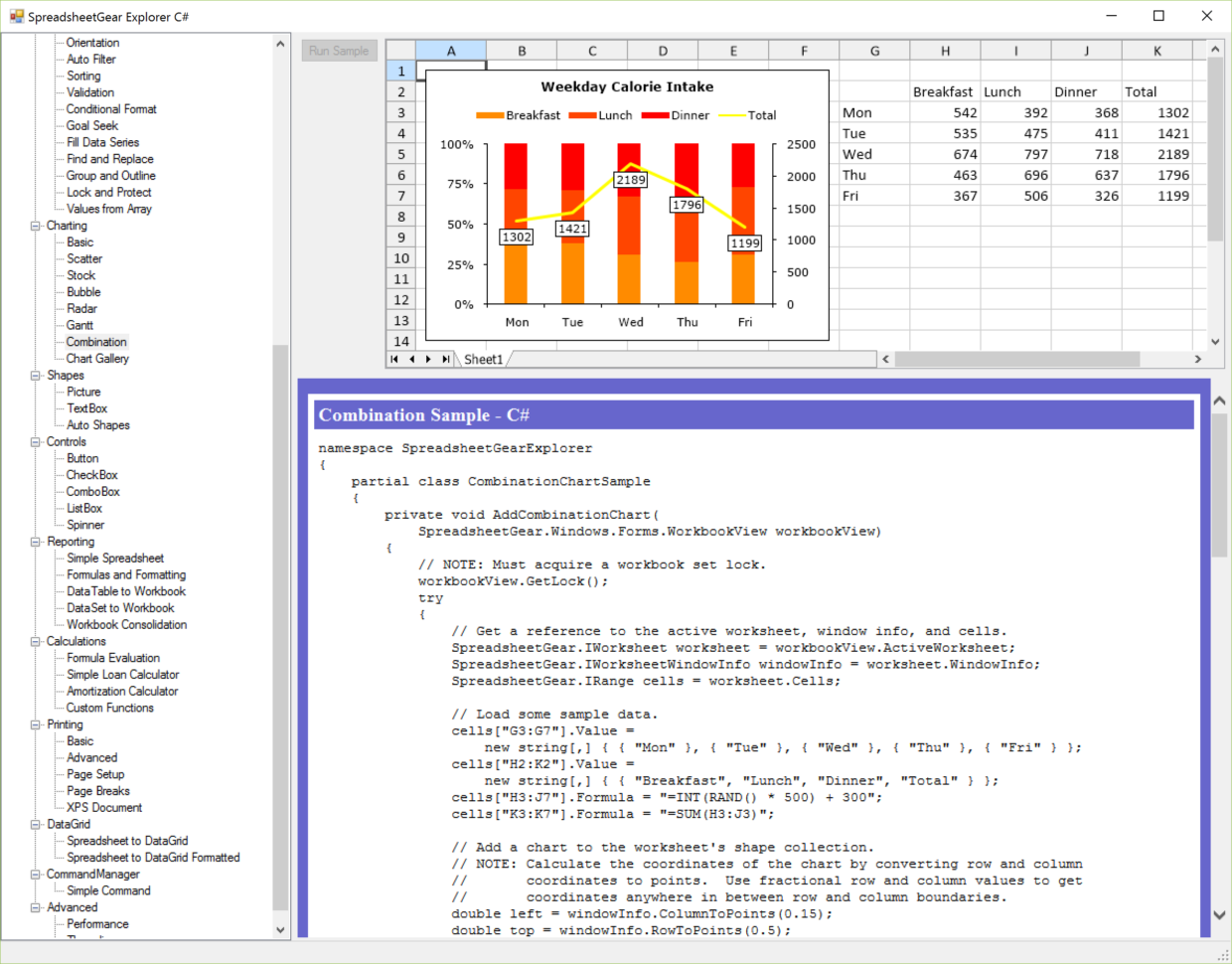 C# Spreadsheet Control Regarding Excel Compatible Windows Forms, Wpf And Silverlight Samples For