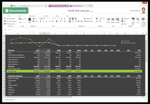 C# Spreadsheet Control Within Asp Spreadsheet  Excel Inspired Spreadsheet Control  Devexpress