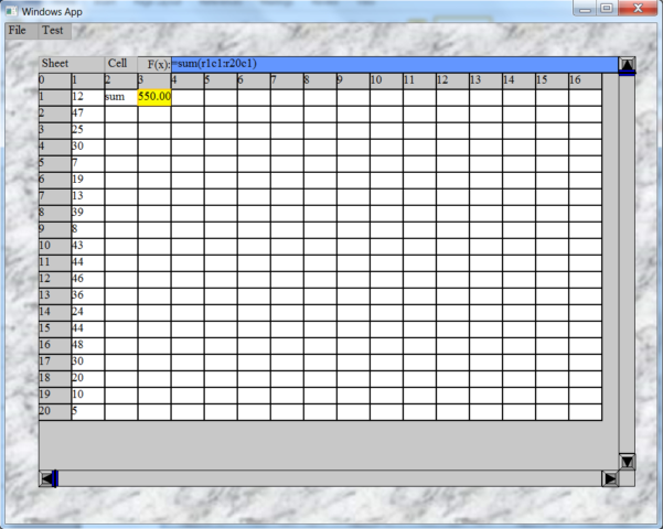 C   Spreadsheet Library Within Gtcalc: A C   Spreadsheet Control For Gt Graphical User Interface