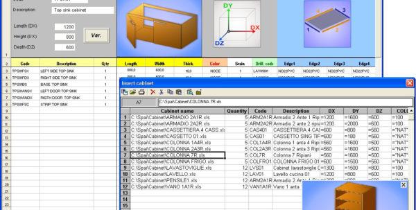 Cabinet Cut List Spreadsheet In Spai Software Srl.