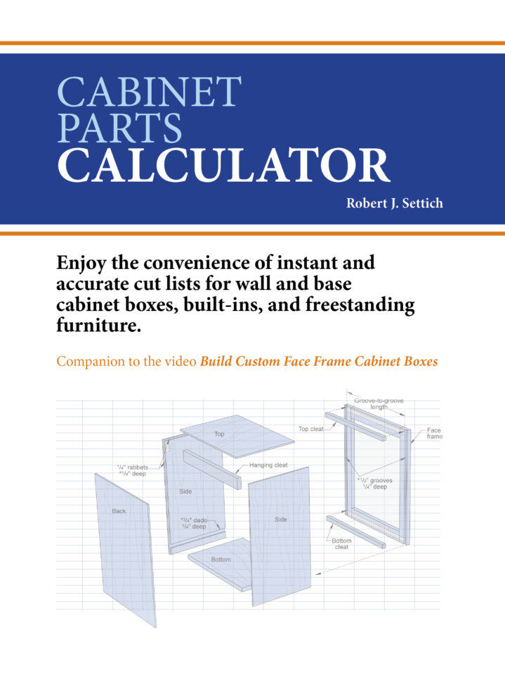Cabinet Cut List Spreadsheet With Regard To Custom Cabinetmaking Dvd Series « Plans Unlimited
