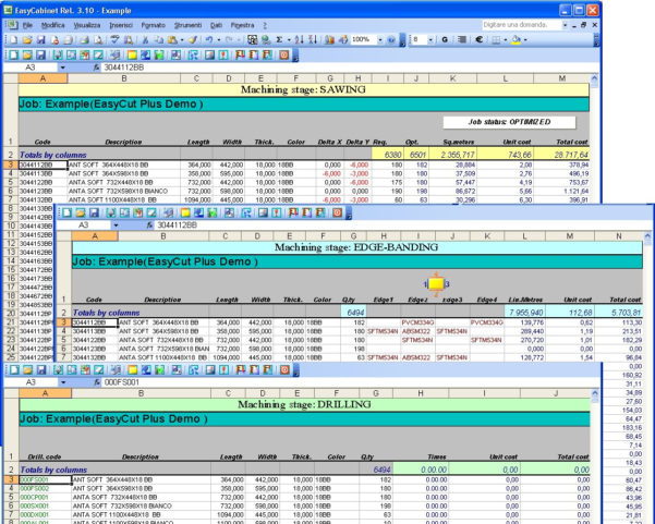 Cabinet Cut List Spreadsheet With Spai Software Srl.