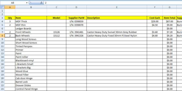 Cabinet Cut List Spreadsheet Within Retro5 Arcade  Custom Arcade Cabinet Build — Www.retro5Online Cabinet Cut List Spreadsheet Google Spreadsheet