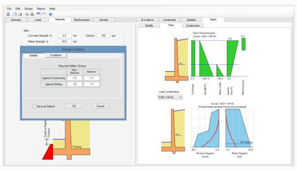 Caisson Design Spreadsheet Pertaining To Design Retaining Wall  Home Design Ideas