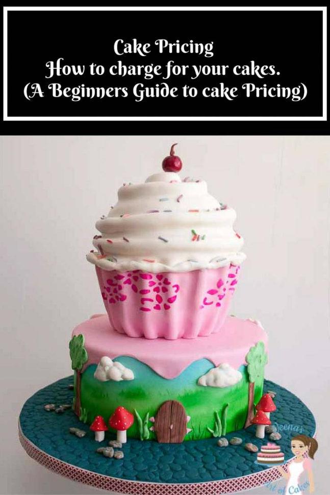 Cake Costing Spreadsheet Regarding Cake Pricing  How To Price Your Cakes  Veena Azmanov