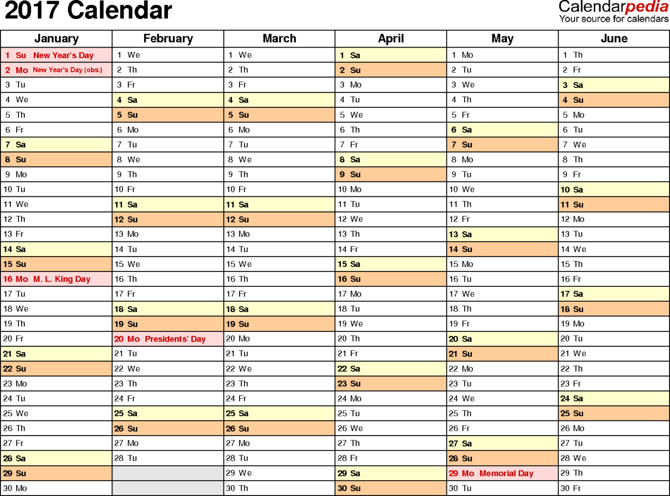 Calendar Excel Spreadsheet Download In 2017 Calendar  Download 17 Free Printable Excel Templates .xlsx