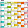 Calendar Spreadsheet 2018 With Excel Calendar 2018 Uk: 16 Printable Templates Xlsx, Free