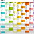 Calendar Spreadsheet 2018 With Excel Calendar 2018 Uk: 16 Printable Templates Xlsx, Free