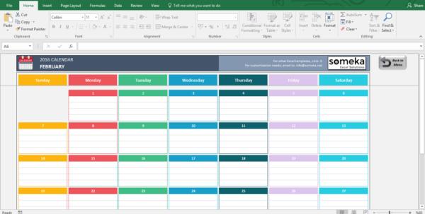 Calendar Spreadsheet 2018 With Regard To Excel Calendar Templates  Download Free Printable Excel Template