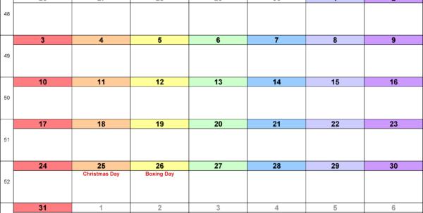 Calendar Spreadsheet Template 2018 In Calendar December 2018 Uk, Bank Holidays, Excel/pdf/word Templates