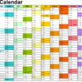 Calendar Spreadsheet Template 2018 pertaining to 2018 Calendar  Download 17 Free Printable Excel Templates .xlsx