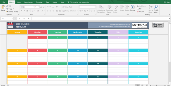 Calendar Spreadsheet Template 2018 With Excel Calendar Templates  Download Free Printable Excel Template