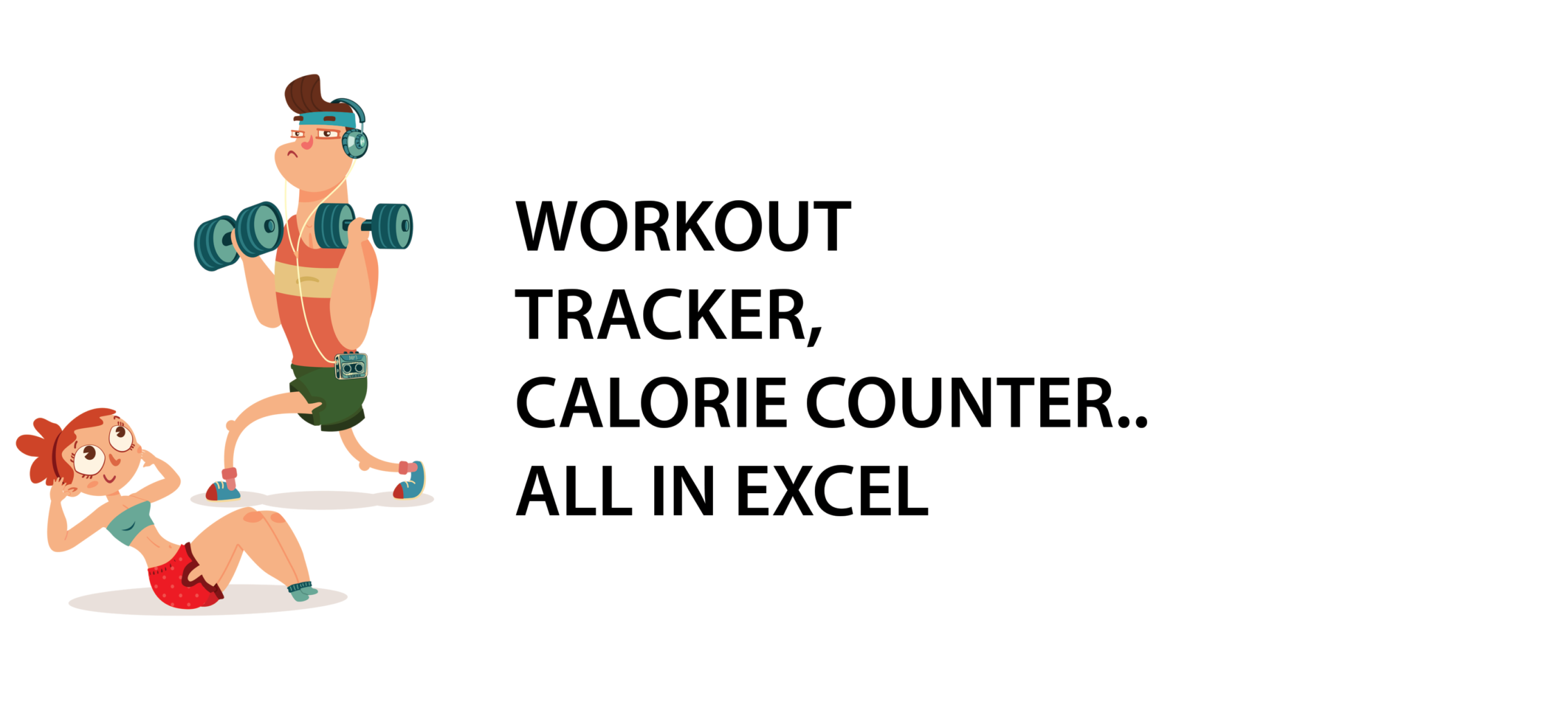 Calorie Spreadsheet Template Pertaining To Workout Tracker, Calorie Counter…all In Excel  Excel With Business
