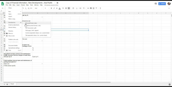 Cam Charges Spreadsheet For Financial Doc On Vimeo