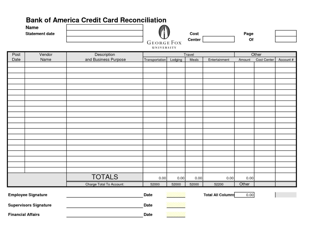 Cam Reconciliation Spreadsheet In Credit Card Reconciliation Template  Charlotte Clergy Coalition