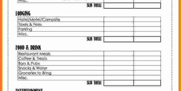 Camp Budget Spreadsheet Within 5  Summer Camp Budget Spreadsheet  Balance Spreadsheet