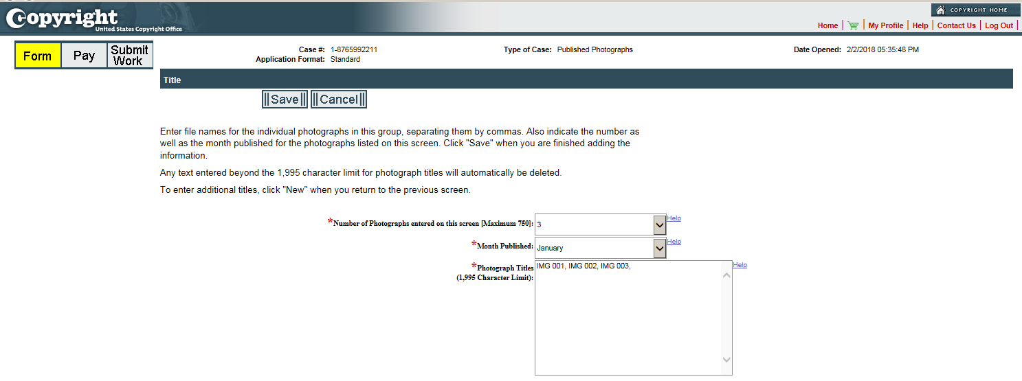 Can I Copyright My Excel Spreadsheet Pertaining To Group Registration For Published Photographs  U.s. Copyright Office