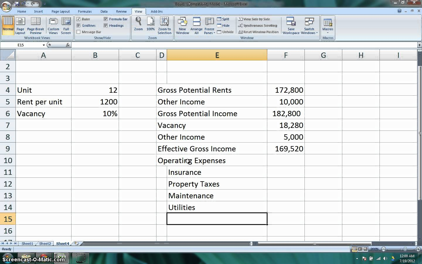 Cap Rate Spreadsheet Intended For Cap Rate Excel Template Rental Propertypreadsheet Calculator
