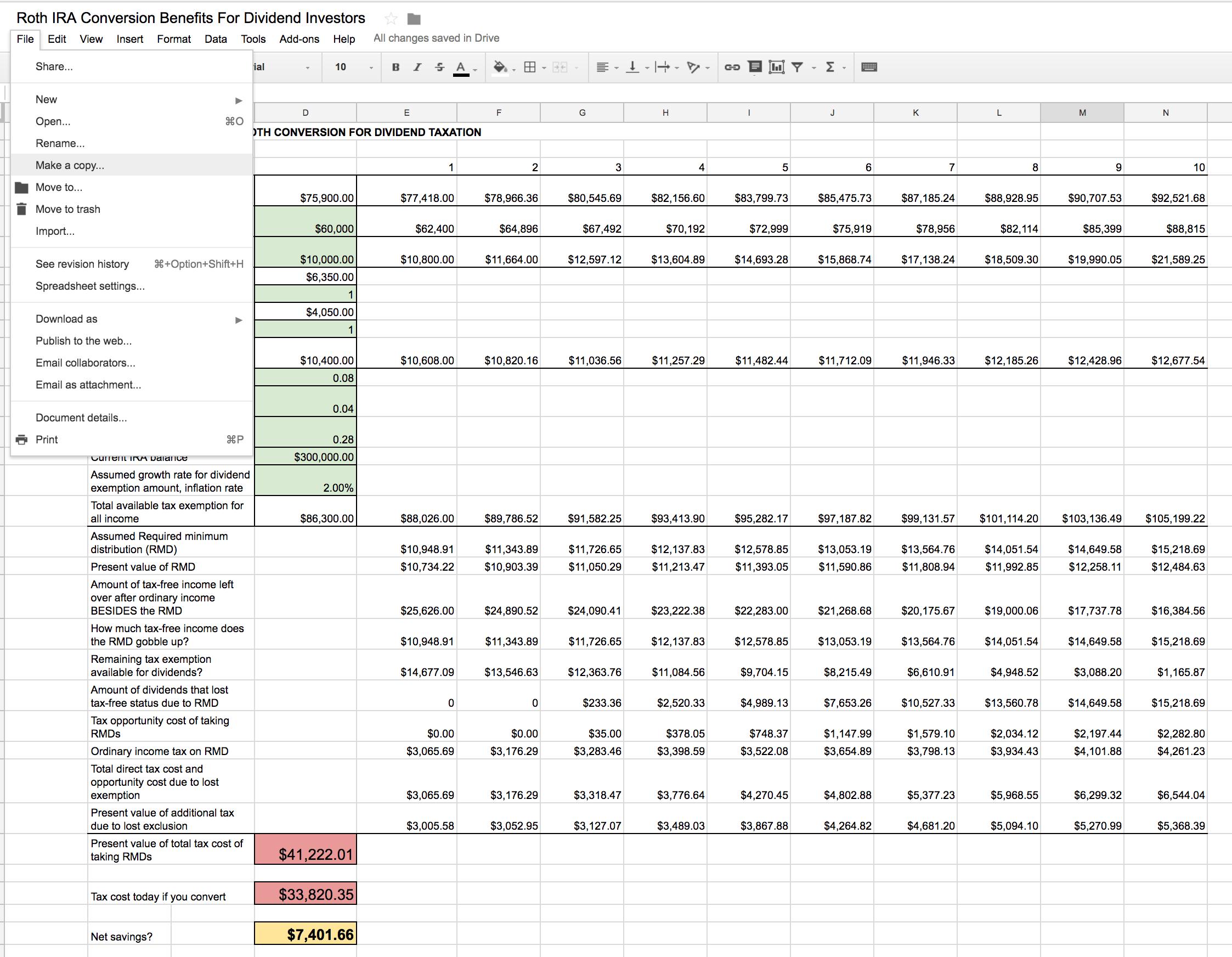Capital Gains Tax Spreadsheet Shares With Regard To Roth Ira Conversion Spreadsheet  Seeking Alpha