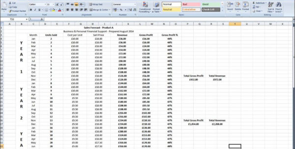 Capsim Sales Forecast Spreadsheet Within Sales Forecast Spreadsheet Restaurant Product Score Capstone