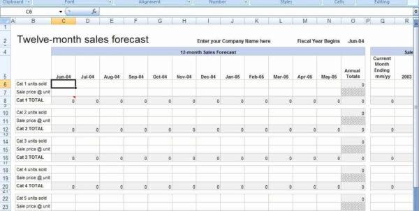 Capstone Sales Forecast Spreadsheet Inside New Collection Of Sales Forecast Spreadsheet Guccisenmon Com