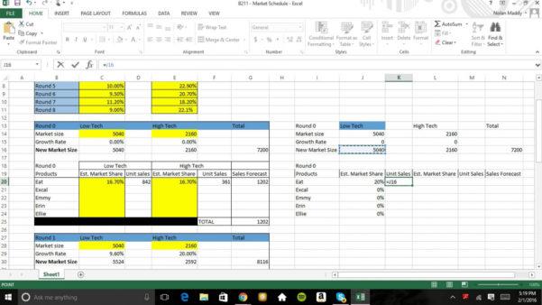 Capstone Sales Forecast Spreadsheet Pertaining To Salesorecast Spreadsheet Capstone Picture Of Capsim Market Youtube