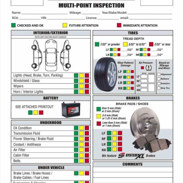 Car Maintenance Checklist Spreadsheet Throughout Vehicle Service Checklist Template. Vehicle Maintenance Checklist