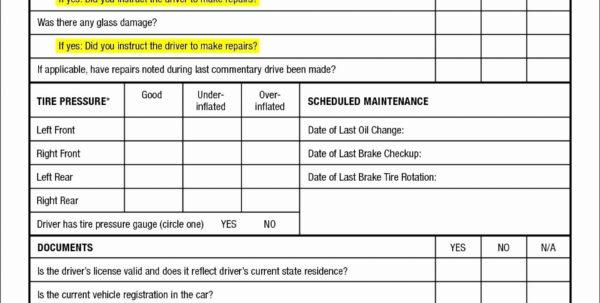 Car Maintenance Checklist Spreadsheet With Regard To 003 Vehicle Maintenance Form Fleet Example Of Auto Sample Truck