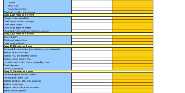 Car Maintenance Schedule Spreadsheet Intended For Car Maintenance Schedule Spreadsheet Software And Car Maintenance Car Maintenance Schedule Spreadsheet Spreadsheet Download