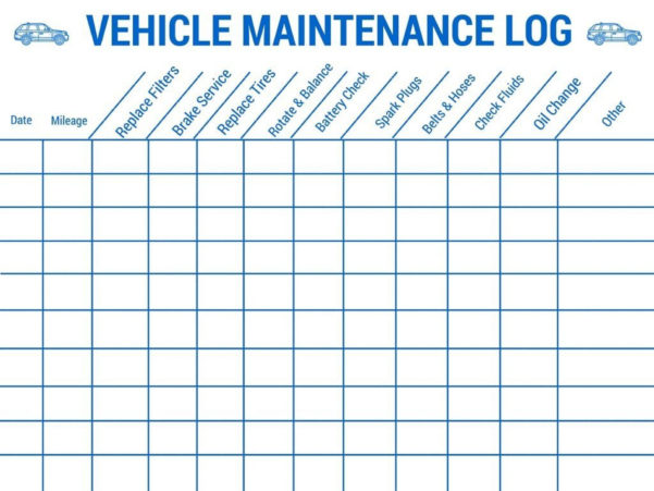 Car Maintenance Schedule Spreadsheet Within 014 Auto Maintenance Schedule Spreadsheet Or Car With Vehicle