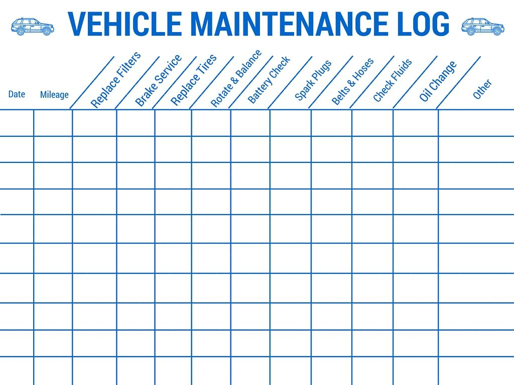 Car Maintenance Spreadsheet Pertaining To Vehicle Maintenance Log Book Template Car Tips Truck Spreadsheet