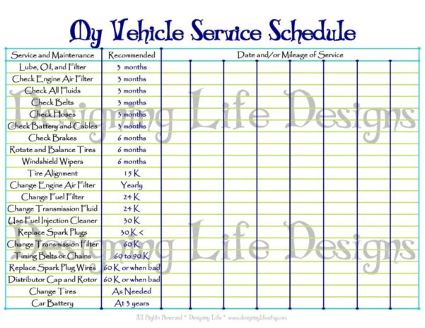 Car Maintenance Spreadsheet With Home Maintenance Spreadsheet And Car Handywoman Pinterest Invoice